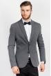 Пиджак однотонный мужской 197F018 серый