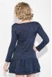 Платье женское с воланами 77PD781 синий меланж