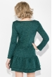Платье женское с воланами 77PD781 зеленый меланж