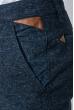 Брюки мужские классические, зауженные 881K003 сине-серый