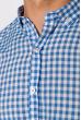 Рубашка 511F037 бело-голубой