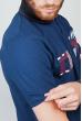 Поло мужское с контрастным воротником №185F110 синий