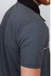Поло мужское с контрастным воротником №185F110 темно-серый