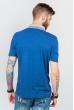 Поло мужское с контрастным воротником №185F110 светло-синий