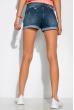 Модные джинсовы шорты сподкатами 162P016 синяя варенка