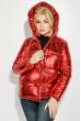 Куртка женская теплая на кнопках 69PD980 красный металлик
