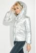 Куртка женская теплая на кнопках 69PD980 серебро