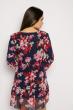 Мини платье из шифона 640F008 темно-синий