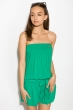Комбинезон женский, шорты 81P1102-1 зеленый
