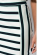 Классическая юбка в полоску 120PSE012 молочно-синий