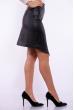 Женская юбка из экокожи 176P001 черный