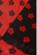 Палантин женский с цветочным принтом «Ромашки» 73PD017 черно-красный , ромашки