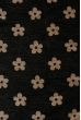 Палантин женский с цветочным принтом «Ромашки» 73PD017 черно-бежевый , ромашки
