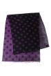Палантин женский с цветочным принтом «Ромашки» 73PD017 черно-фиолетовый , ромашки
