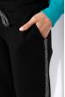 Костюм спортивный женский, с люрексом 70P0034 черно-лазурный