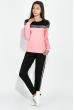 Костюм спортивный женский, с люрексом 70P0034 черно-розовый