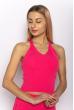 Женский однотонный топ 630F005 розовый