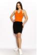 Женский однотонный топ 630F005 оранжевый