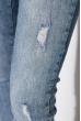 Джинсы женские 915K008 синяя варенка