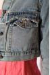 Укороченная джинсовая куртка 343V002 синяя варенка