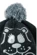 Шапка детская с нашивкой «Мишка», с пампоном 65P17-012 junior темно-серый