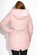 Пуховик женский однотонный 127PZ17-206 розовый