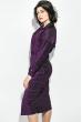 Платье женское удлиненное с запахом, люрикс 64PD3611 малина , люрикс