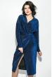 Платье женское удлиненное с запахом, люрикс 64PD3611 электрик , люрикс