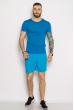 Мужские шорты из хлопка 637F003 голубой
