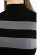Гольф в полоску  618F077 черно-серый