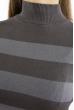 Гольф в полоску  618F077 грифельно-серый
