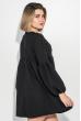 Платье женское рукав фонарик, короткое 72PD202 черный