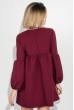 Платье женское рукав фонарик, короткое 72PD202 марсала