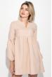 Платье женское рукав фонарик, короткое 72PD202 кремовый