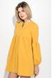 Платье женское рукав фонарик, короткое 72PD202 горчичный