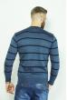 Джемпер в полоску 85F049 сине-чернильный