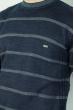 Джемпер в полоску 85F049 сине-сизый
