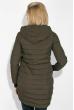 Куртка женская с пушком на кармане  173V001 хаки