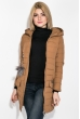 Куртка женская с пушком на кармане  173V001 капучино