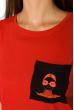 Футболка женская 317F072 красный