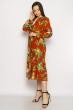 Платье в цветочек 632F013-2 кирпичный