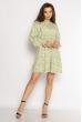 Платье принт Ромашка 632F004-1 зеленый