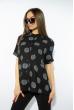 Блуза в горох 120PFL171125 черно-серый