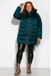 Куртка женская на молнии 120PSKL1921 сине-зеленый