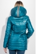 Куртка женкая длинная, с нашивками на карманах 76PD1114 лазурный