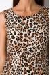 Платье с удлиненной спинкой 120PRAA1280 бежево-коричневый