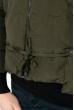 Куртка женская с капюшоном 677K007 темный хаки