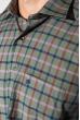 Рубашка мужская в клетку 50PD0053 клетка хаки / синий