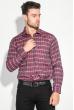 Рубашка мужская в клетку 50PD0053 бордовая клетка