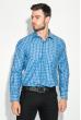 Рубашка мужская в клетку 50PD0053 клетка сине-голубая